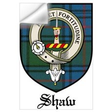 Shaw Clan Crest Tartan Wall Decal